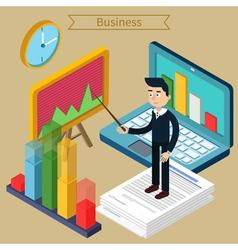 Business presentation isometric concept vector