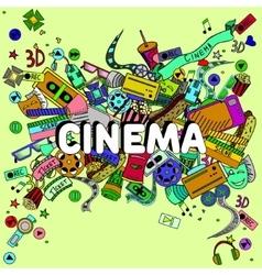 Cinema line art design vector image