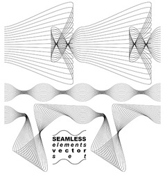 Elegant flowing lines background royal design vector
