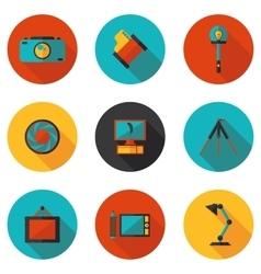 flat icons photo vector image