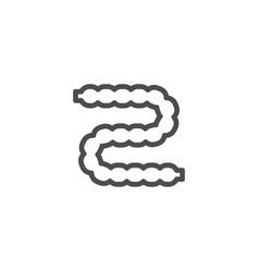 intestines line icon vector image vector image