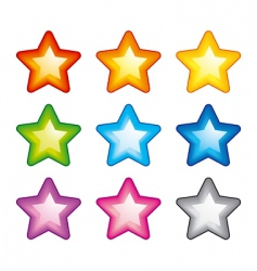rainbow stars vector image vector image
