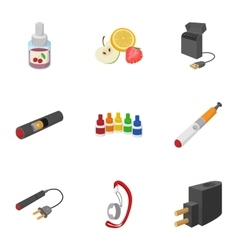 Cigarette icons set cartoon style vector image vector image