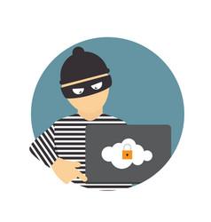 Criminal hacker concept of fraud cyber crime vector