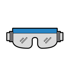 cute snowboard protective glasses vector image