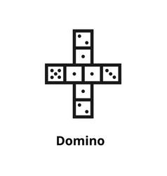 Domino line icon vector