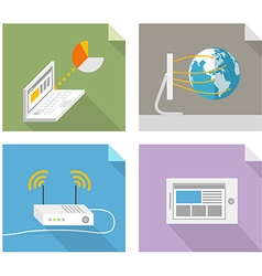 Modern technology concepts Design elements vector image