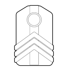 Shoulder straps icon outline style vector