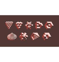 3d isometric symbols vector image