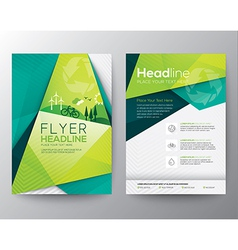 Abstract Triangle Brochure Flyer design template vector image vector image