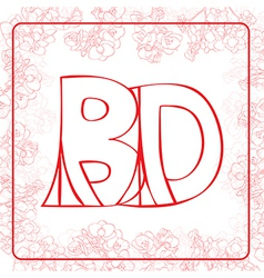 BD monogram vector