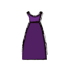 Blurred colorful drawing of purple dress eighties vector