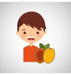 Boy smiling cartoon icon design vector