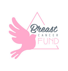 Breast cancer fund label in vector
