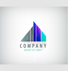 building logo company icon vector image