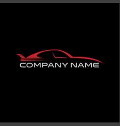 Car logo sport minimalist flat simple vector