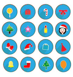 Christmas design icons set vector