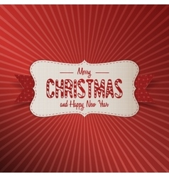 Christmas realistic paper white Banner with Ribbon vector image vector image