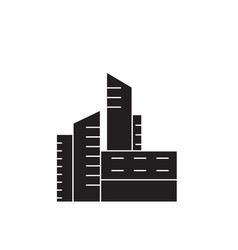 city buildings black concept icon city vector image