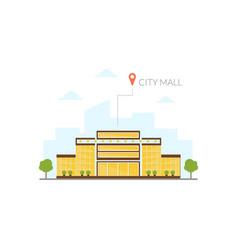 city mall building modern cityscape design vector image