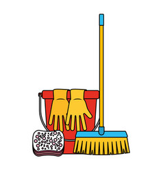 cleaning equipment related vector image