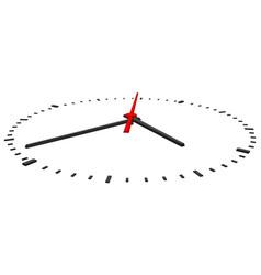 Clock on white vector