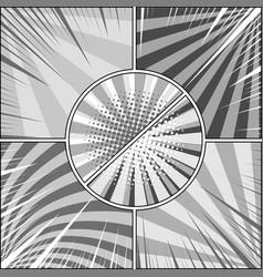 Comic book monochrome concept vector