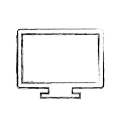 computer monitor isolated icon vector image
