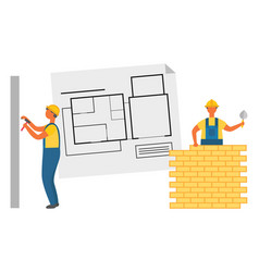 construction zone building project repair vector image