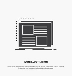content design frame page text icon glyph gray vector image