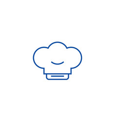 cook hat line icon concept cook hat flat vector image