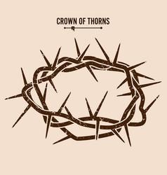 Crown thorns silhouette a crown thorns vector