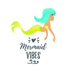 cute mermaid character mermay concept vector image