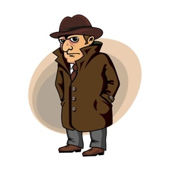 Detective or spy vector image