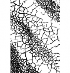 Dotted cracks vector