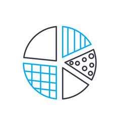 elements designation thin line stroke icon vector image
