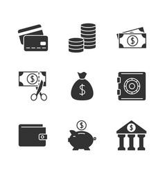 Finance black icon vector