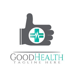Good human health logo design vector
