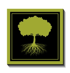 Green tree-nature vector image