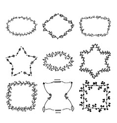 hand drawn doodle laurels and wreaths vector image