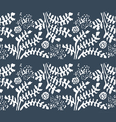 hand drawn sketch of abstract floral vector image