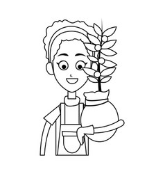 Happy farmer icon image vector