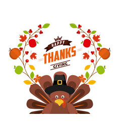 Happy thanksgiving celebration poster vector