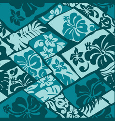 Hibiscus flowers hawaii style fabric vector