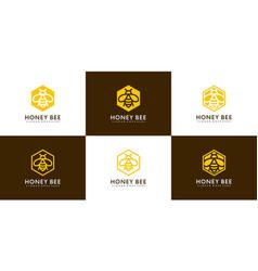honey bee animals logo vector image