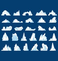 Iceberg crystal freezing mountains vector