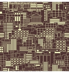 Industrial pattern linear vector image