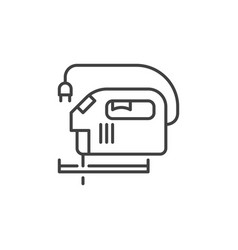 jig saw outline icon jigsaw concept symbol vector image