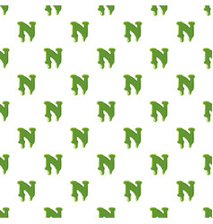Letter n made of green slime vector