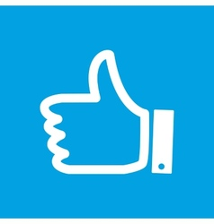 Like white icon vector image